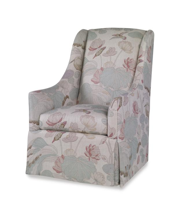 Strange 1281Sw Athens Skirted Swivel Chair Alphanode Cool Chair Designs And Ideas Alphanodeonline